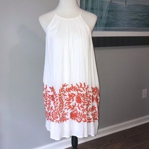 Women's lucky brand dress Orange / Red embroidery